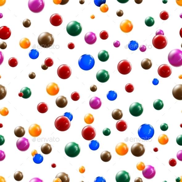 Balls Seamless Background - Backgrounds Decorative