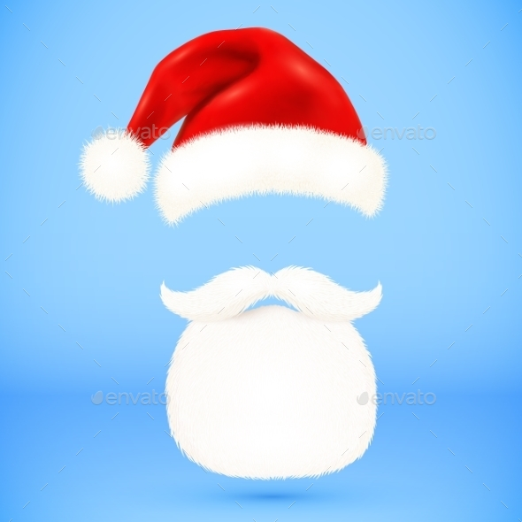 Santa's Hat and Beard  - Christmas Seasons/Holidays