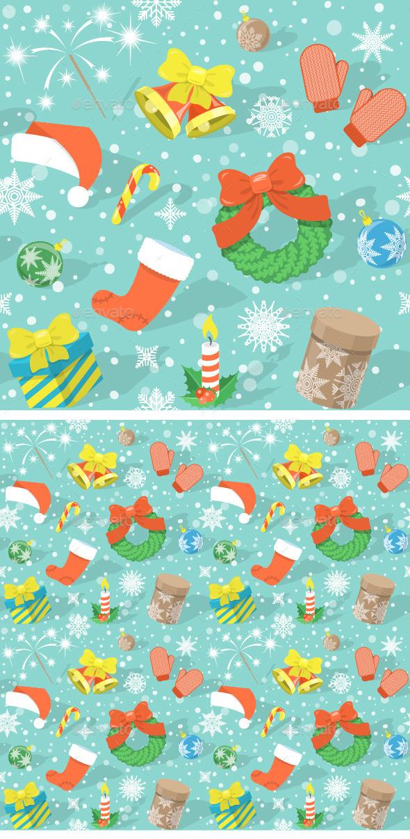Colorful Christmas Pattern - Christmas Seasons/Holidays