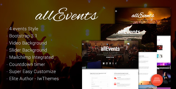 all Events – Event, Conference, Tourism, Music, Sport Theme