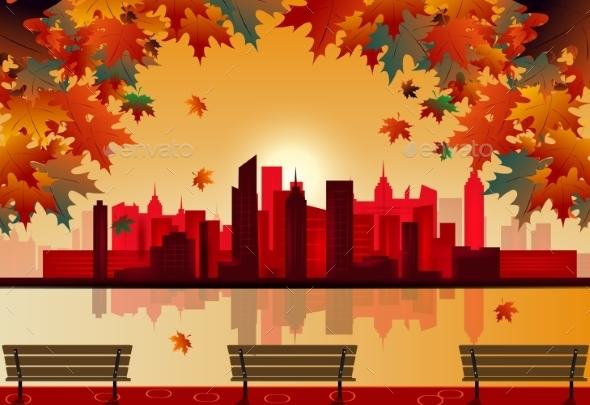 Autumn City - Seasons Nature