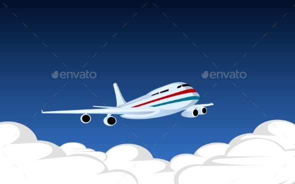Image with Plane - Travel Conceptual