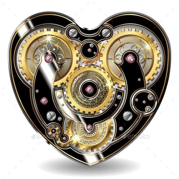 Steampunk Mechanical Heart - Valentines Seasons/Holidays