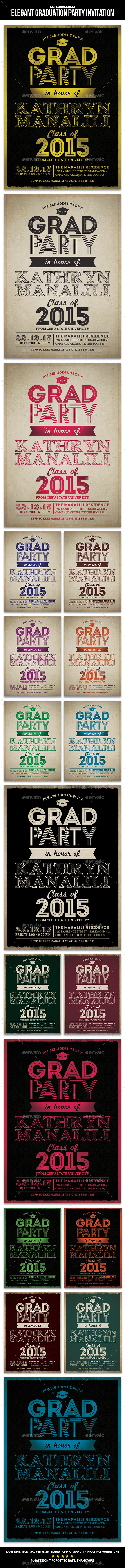 Elegant Graduation Party Invitation - Invitations Cards & Invites
