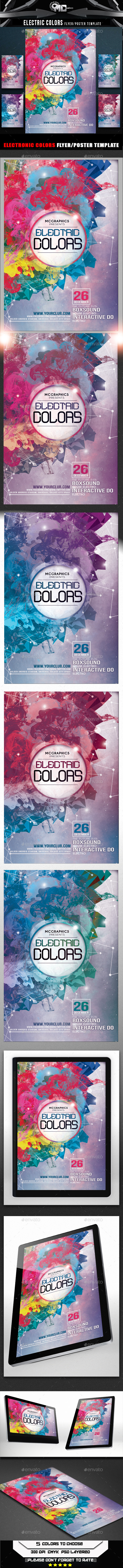 Electric Colors Flyer Template - Clubs & Parties Events