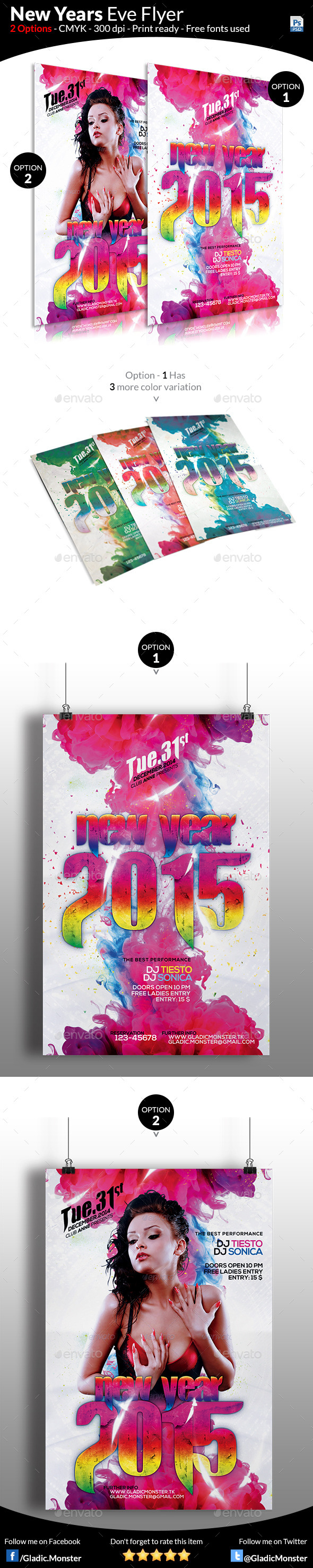 Colorful New Year Flyer Template - Events Flyers