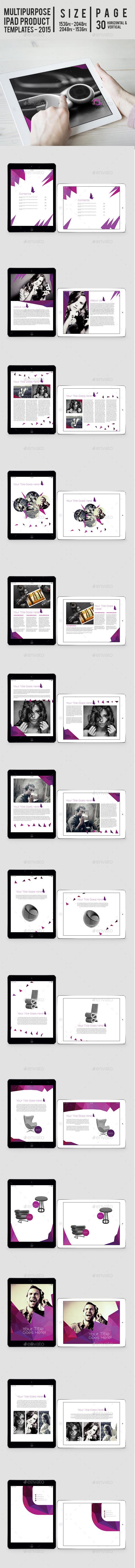 Multipurpose Ipad Product Templates - Digital Magazines ePublishing