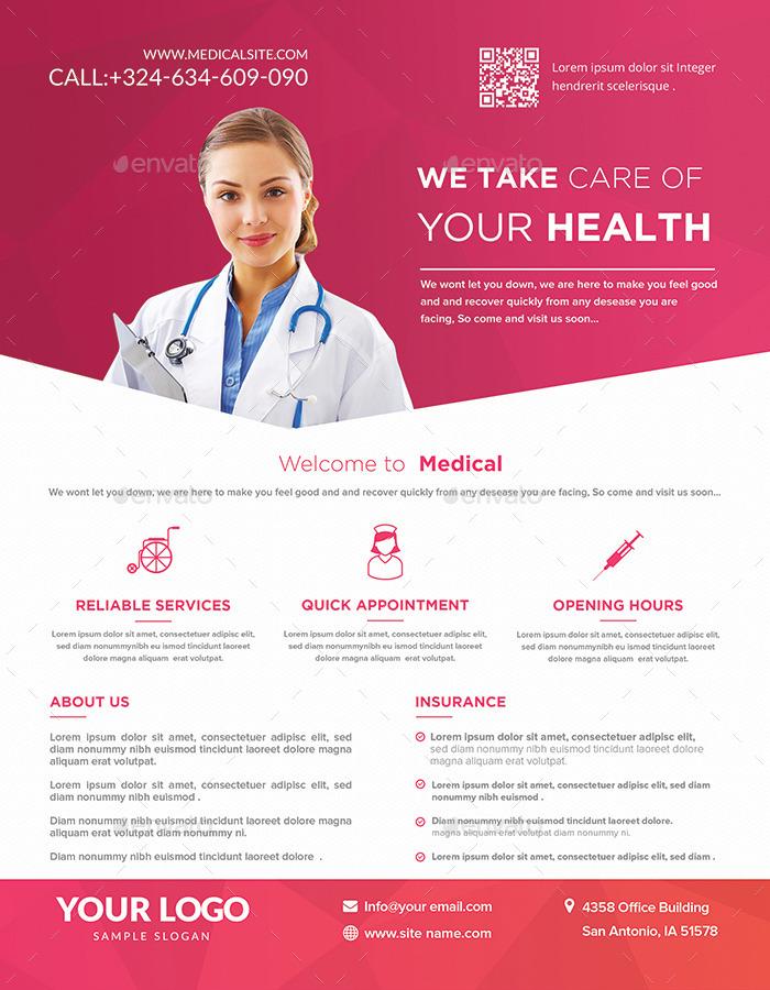 medical flyers templates by hazemtawfik
