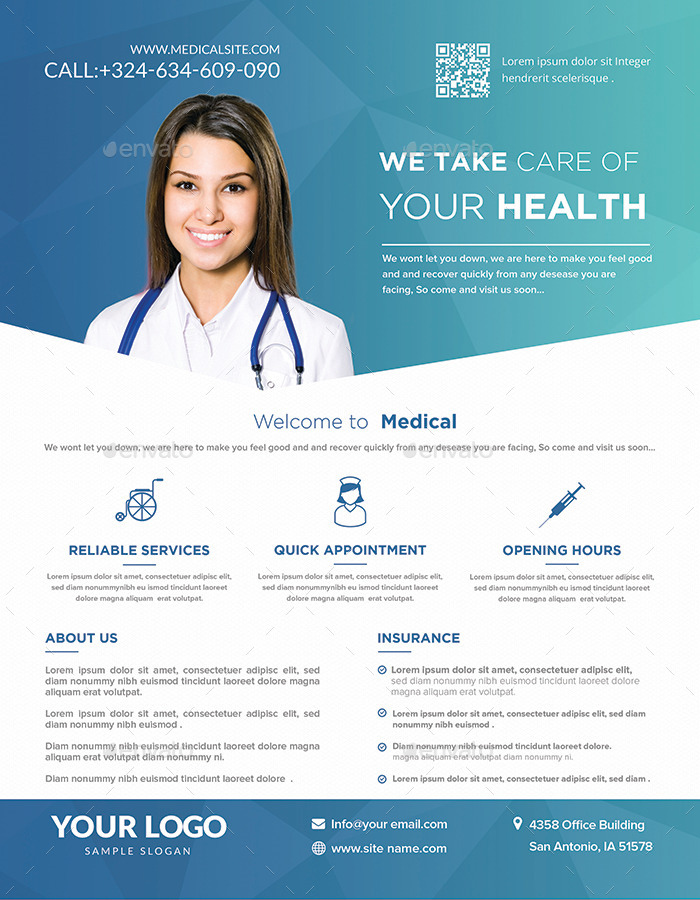 Medical Flyers Templates By Hazemtawfik | Graphicriver