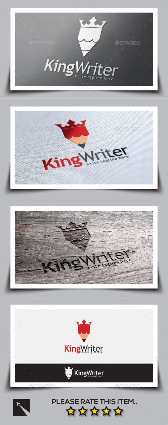 King Writer Pencil Logo Template - Objects Logo Templates