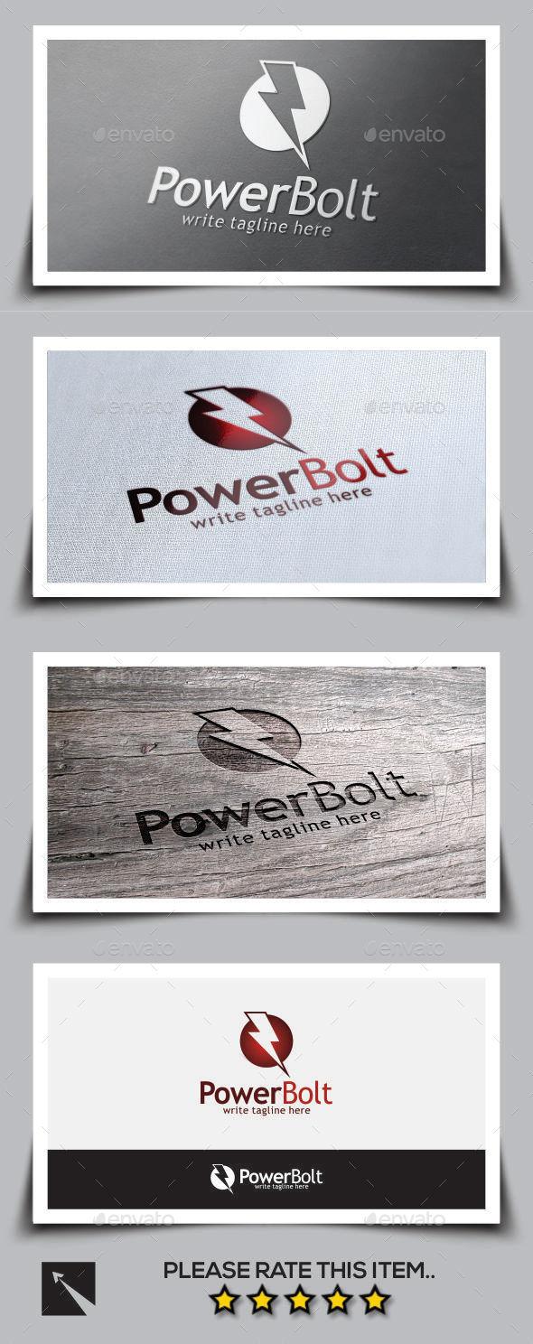 Power Bolt Logo Template - Symbols Logo Templates