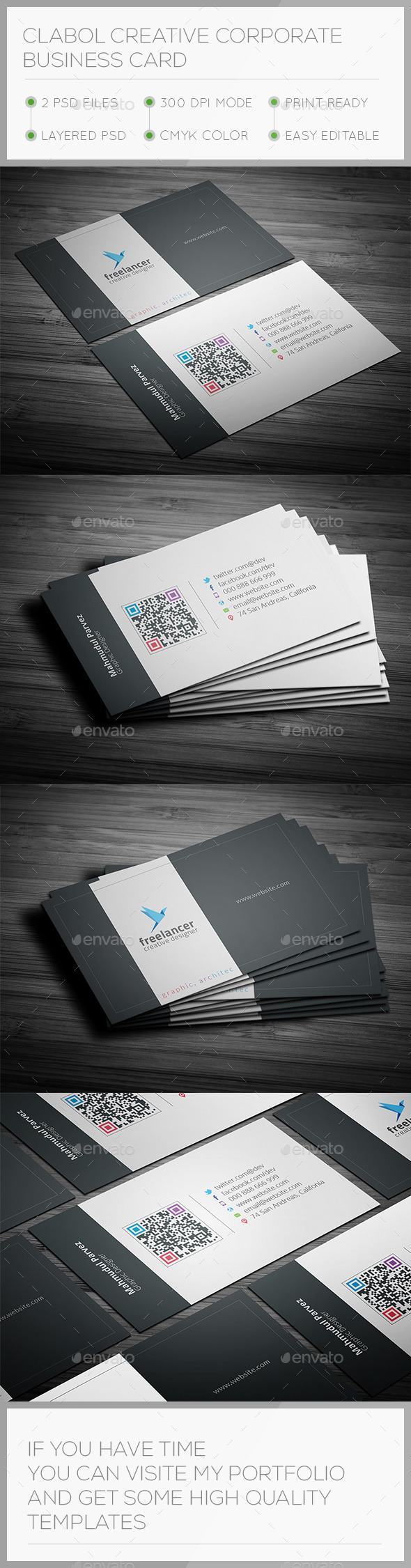 Clabol Corporate Business Card - Corporate Business Cards