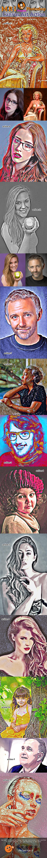 11 Canvas Art Action - Actions Photoshop