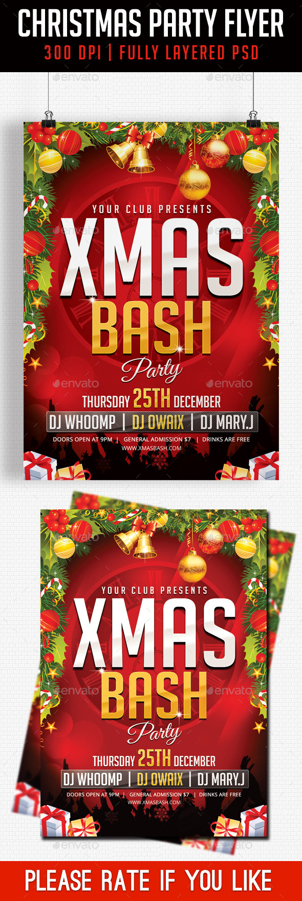 Christmas Party Flyer 2014 - Clubs & Parties Events