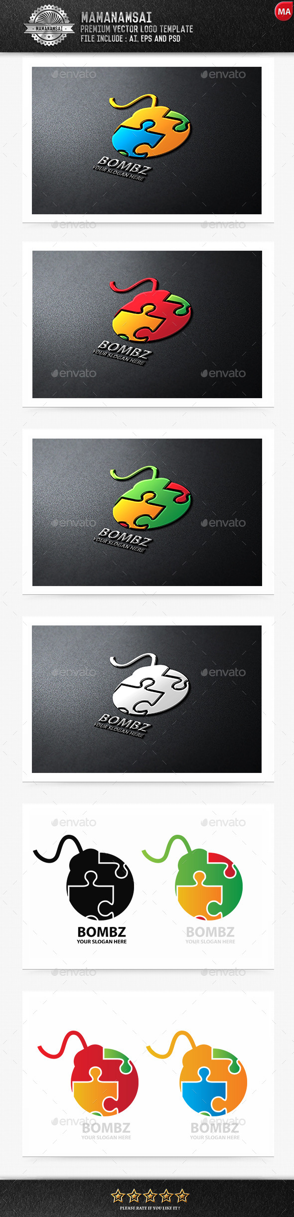 Bomz Logo - Logo Templates