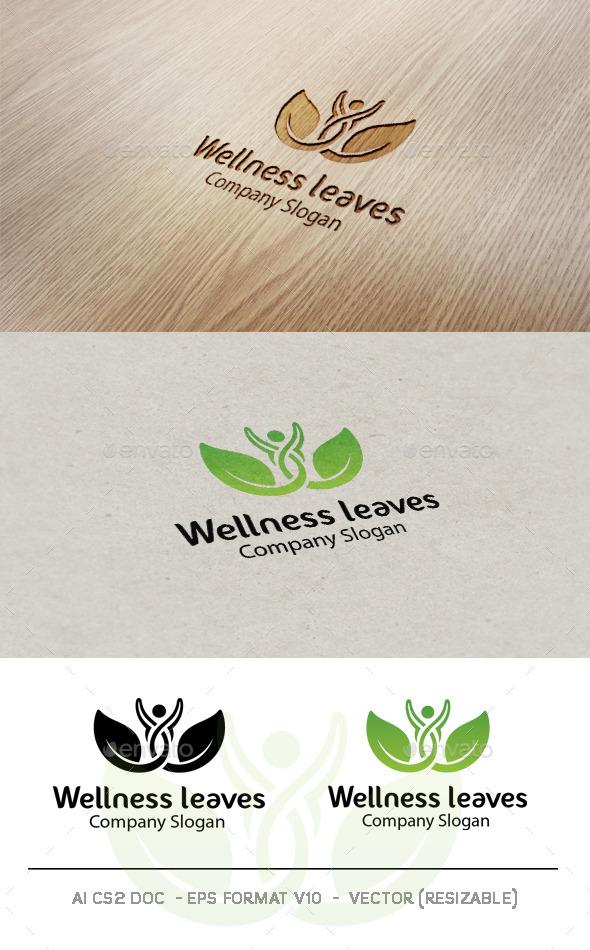 Wellness Leaves Logo - Nature Logo Templates