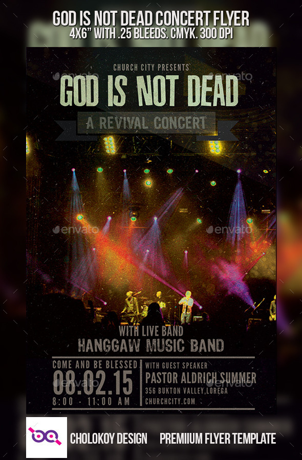 God is Not Dead Church Concert Flyer - Church Flyers
