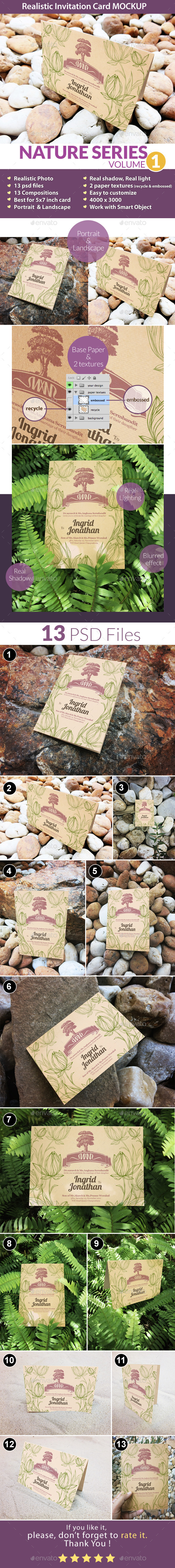 Invitation Card Mockup Nature Series Volume1 - Miscellaneous Print