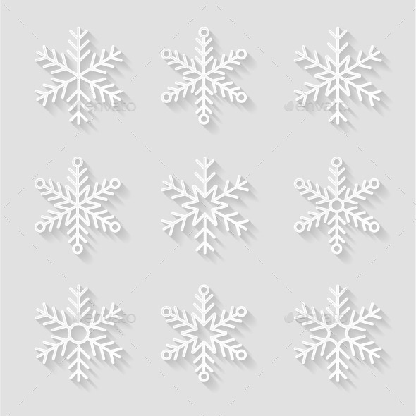 Decorative Paper Snowflakes - Seasons Nature