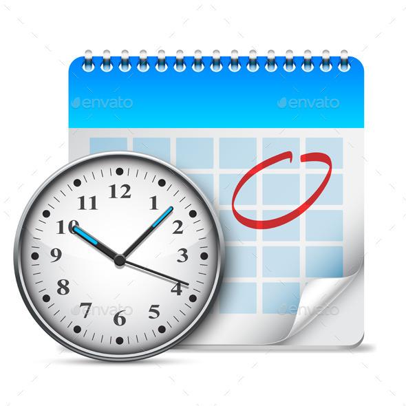 Calendar and Clock - Objects Vectors