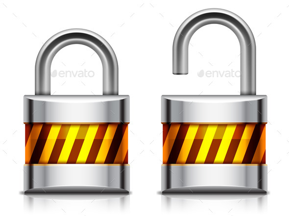 Security Padlock - Objects Vectors