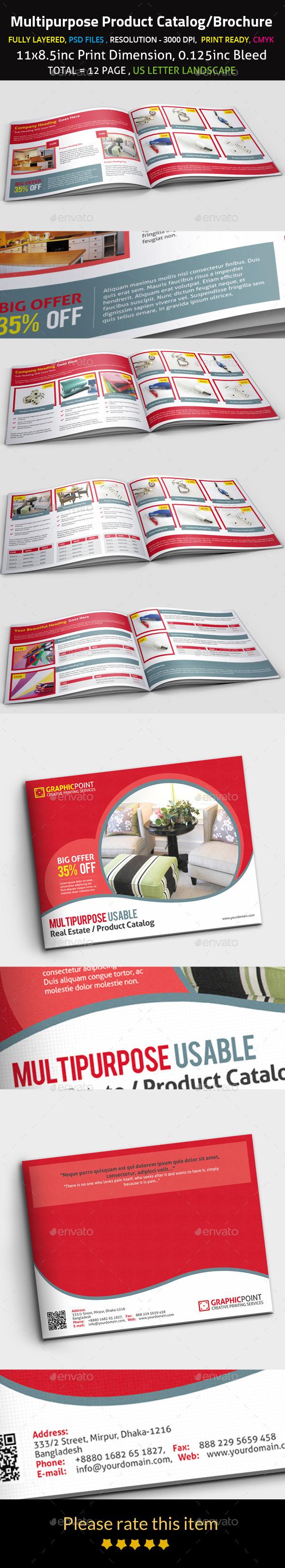 Multipurpose Product Catalog/Brochure - Brochures Print Templates