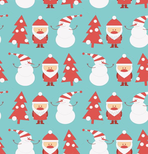Christmas Seamless Background - Christmas Seasons/Holidays
