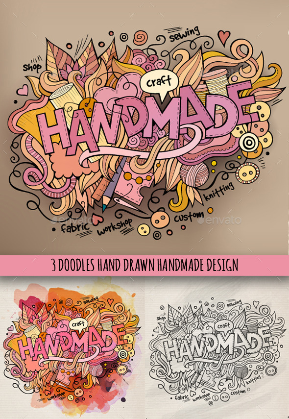 3 Handmade Doodles Designs - Industries Business