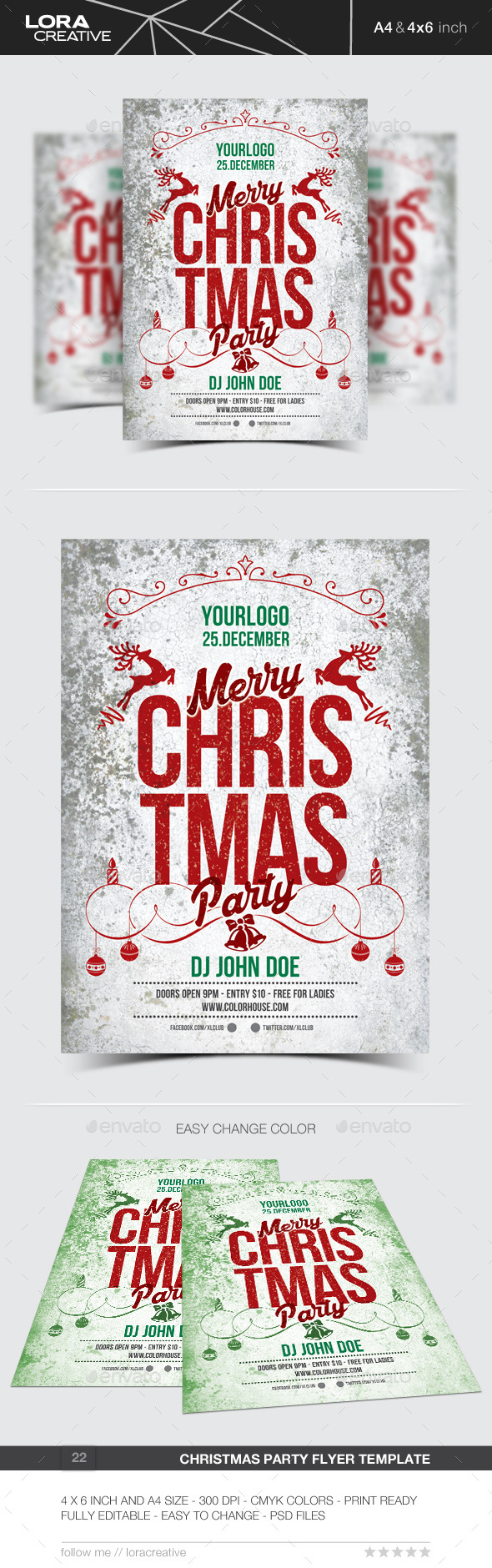 Christmas Flyer / Poster / Invitation - 22 - Events Flyers