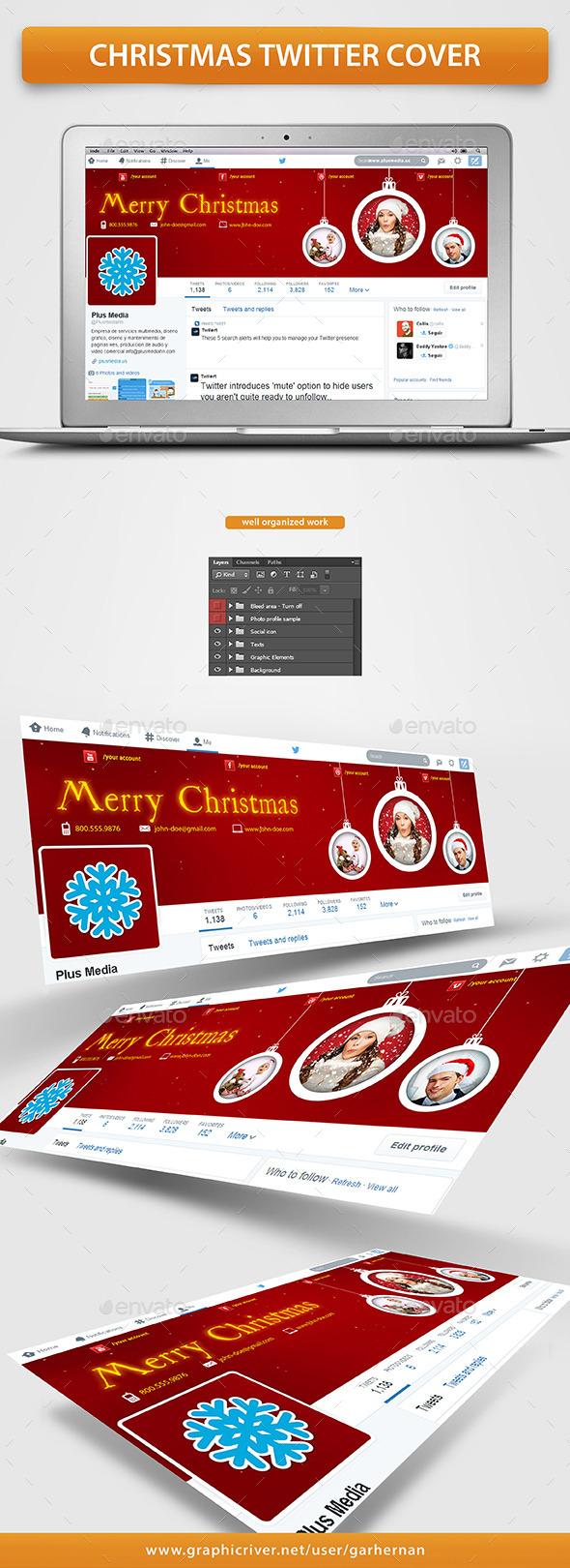 Christmas Twitter Cover - Twitter Social Media