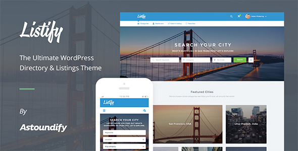 WordPress Directory Theme – Listify