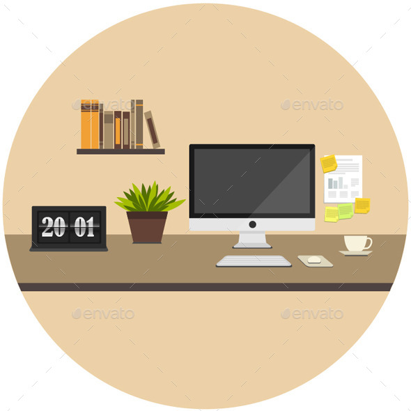 Home Icon Flat - Objects Vectors