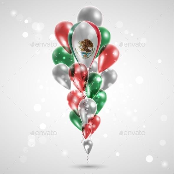 Flag of Mexico on Balloon - Christmas Seasons/Holidays