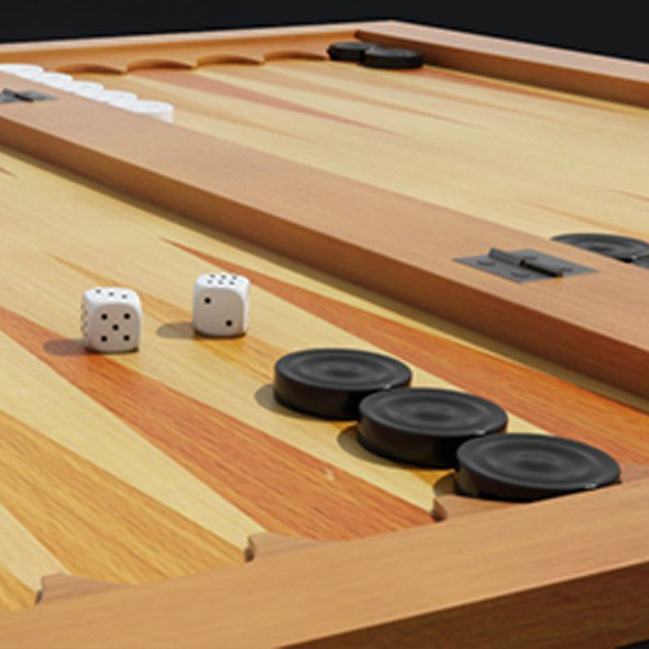 Backgammon 3D Model - 3DOcean Item for Sale