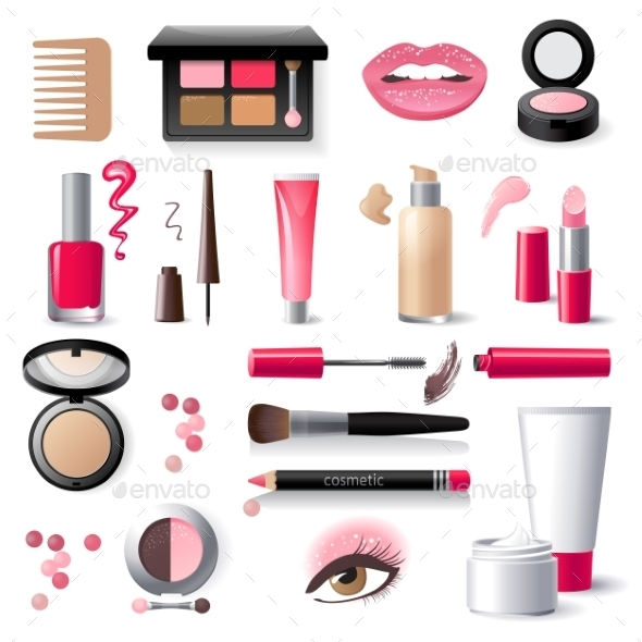 Cosmetics Icons - Objects Vectors