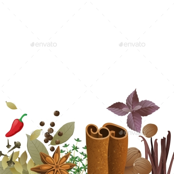 Background with Spices - Food Objects