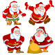 Set of Different Santa Claus - GraphicRiver Item for Sale