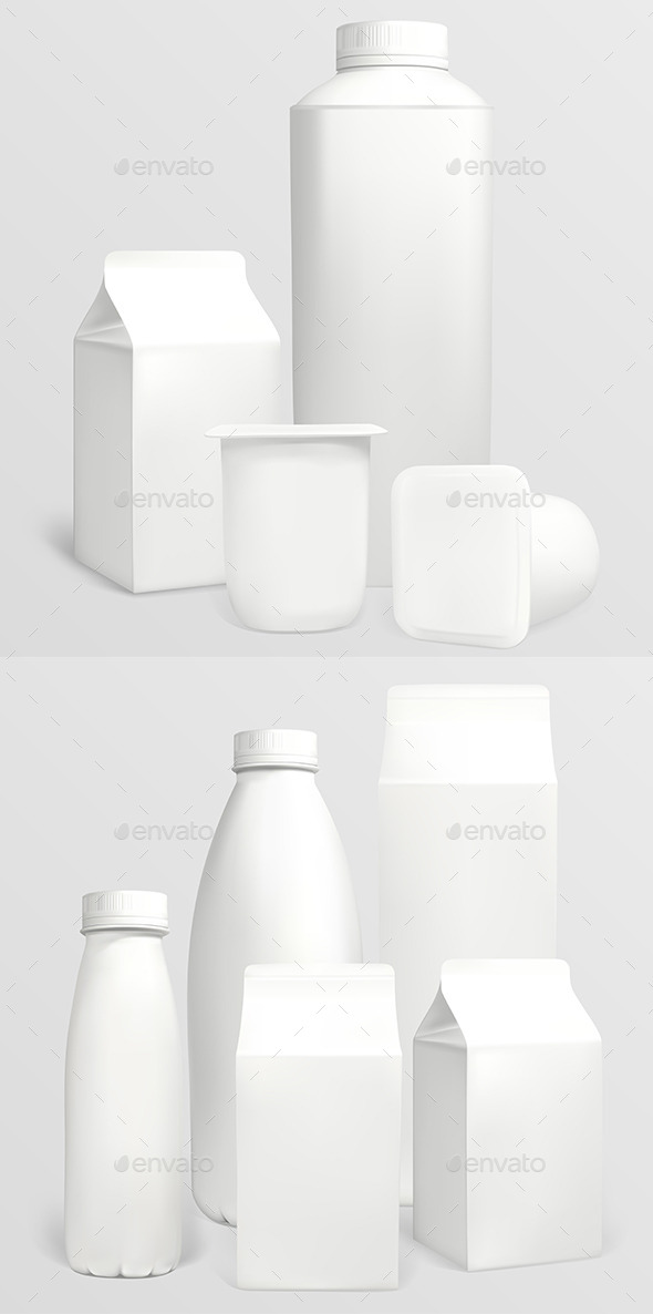 Blank Carton Packaging  - Food Objects