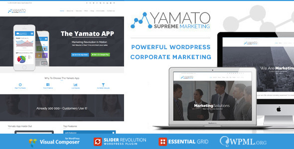 YAMATO – Corporate Marketing WordPress Theme