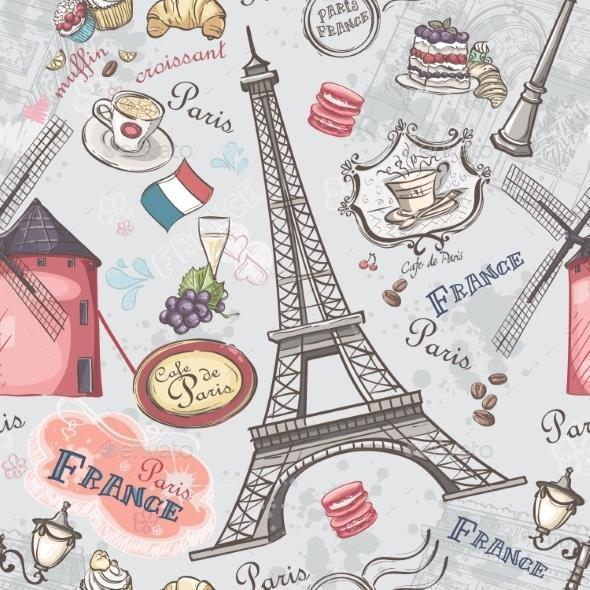 Paris Pattern - Travel Conceptual