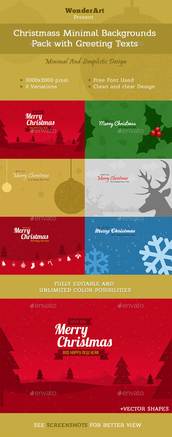 Christmas Minimal Backgrounds With Wish Text - Miscellaneous Backgrounds