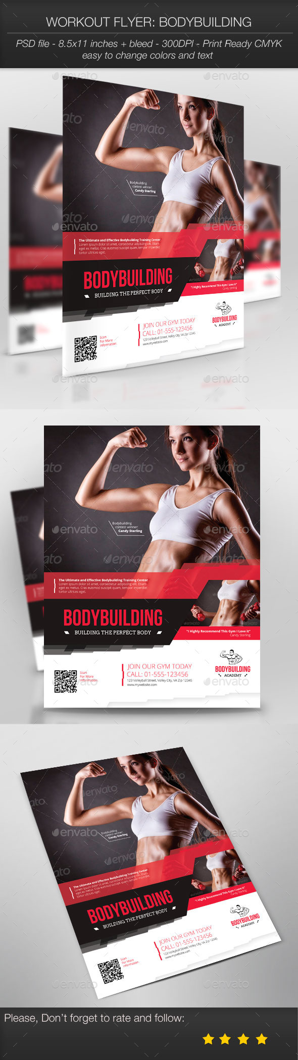 Workout Flyer: Bodybuilding - Sports Events