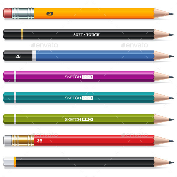 Colorful Pencils - Man-made Objects Objects