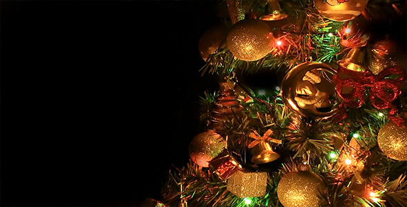 Christmas Tree on Black Background by Catsence | VideoHive