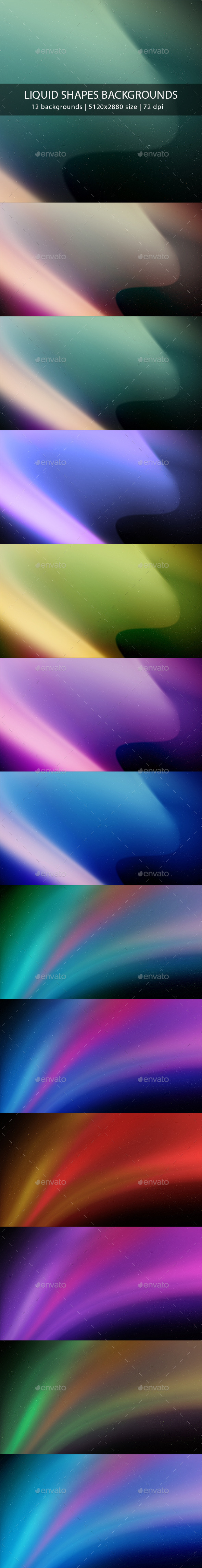 Liquid Shapes Backgrounds - Abstract Backgrounds