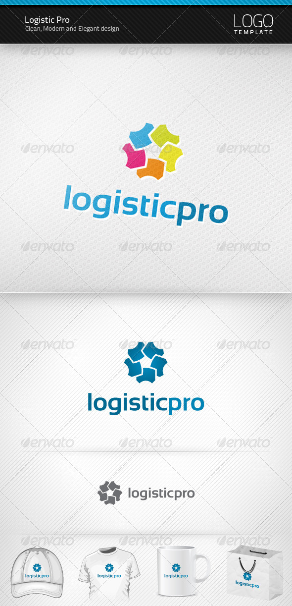 Logistic Pro Logo - Vector Abstract