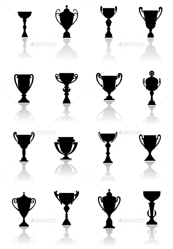 Sporting Trophies or Winners Cups - Sports/Activity Conceptual