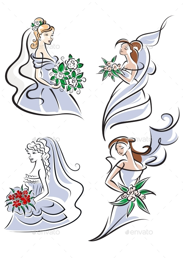 Bride Holding Bouquet of Flowers - Weddings Seasons/Holidays
