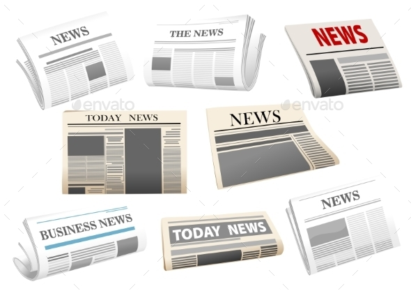 Newspapers - Objects Vectors