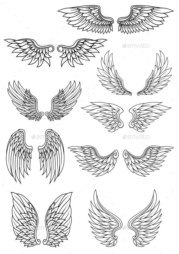 Heraldic Wings - Miscellaneous Vectors